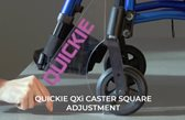 Quickie QXi Center-of-Gravity and Seat-to-Floor Height Adjustment