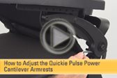 How to Adjust the Quickie Pulse Power Cantilever Armrests