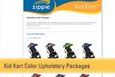 Kid Kart Xpress & TLC Upholstery color options