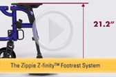 Zippie® Z-finity™ Footrest System